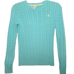 XS Lilly Pulitzer Light Blue Cable Sweater